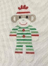 Christmas PJ's Sock Monkey