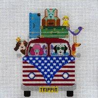 Patriotic Pups Trippin Along