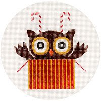 Candy Cane Owl