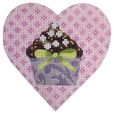 Lilac Cupcake Heart