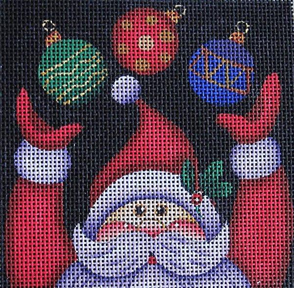 Santa Ornament 3