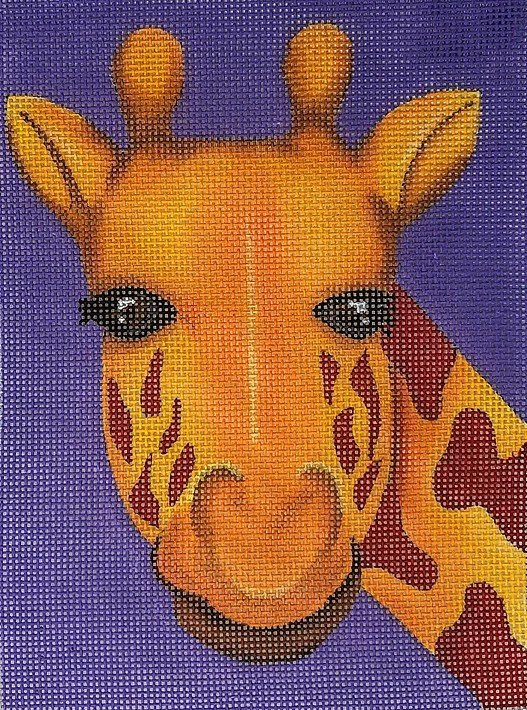 Giraffe on Purple