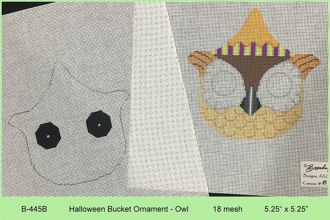Halloween Owl Bucket with Stitch Guide