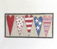 Stars and Stripes Heart Bolster