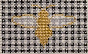 Bee on Gingham