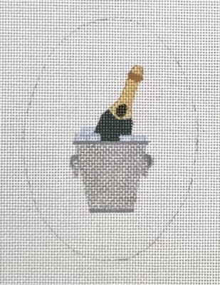 Champagne with Bucket Oval