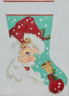 Santa with Bell Stocking