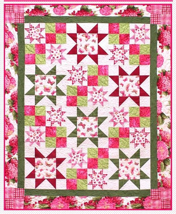 Bobby Dazzler Quilt Pattern by Pressed For Time Quiltworks