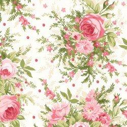 Cream/Pink Roses & Heather