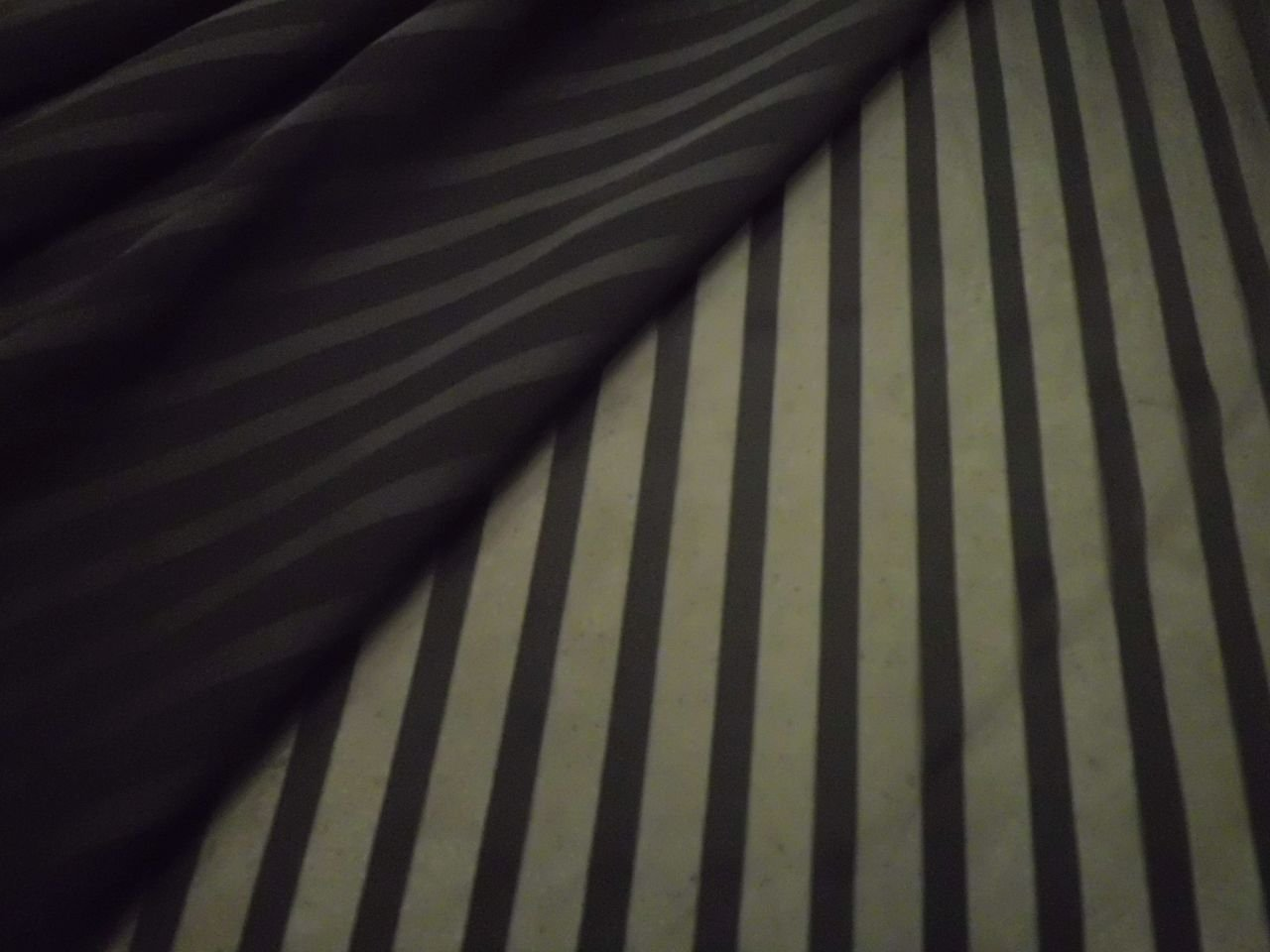 Sorbet Polyester Chiffon Stripe - Last Piece!