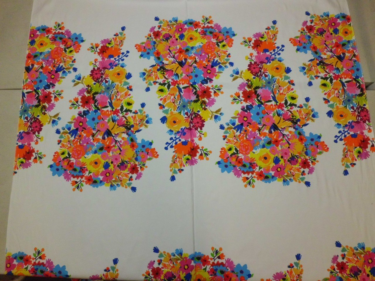 Panel Floral Print in Cotton & Lycra