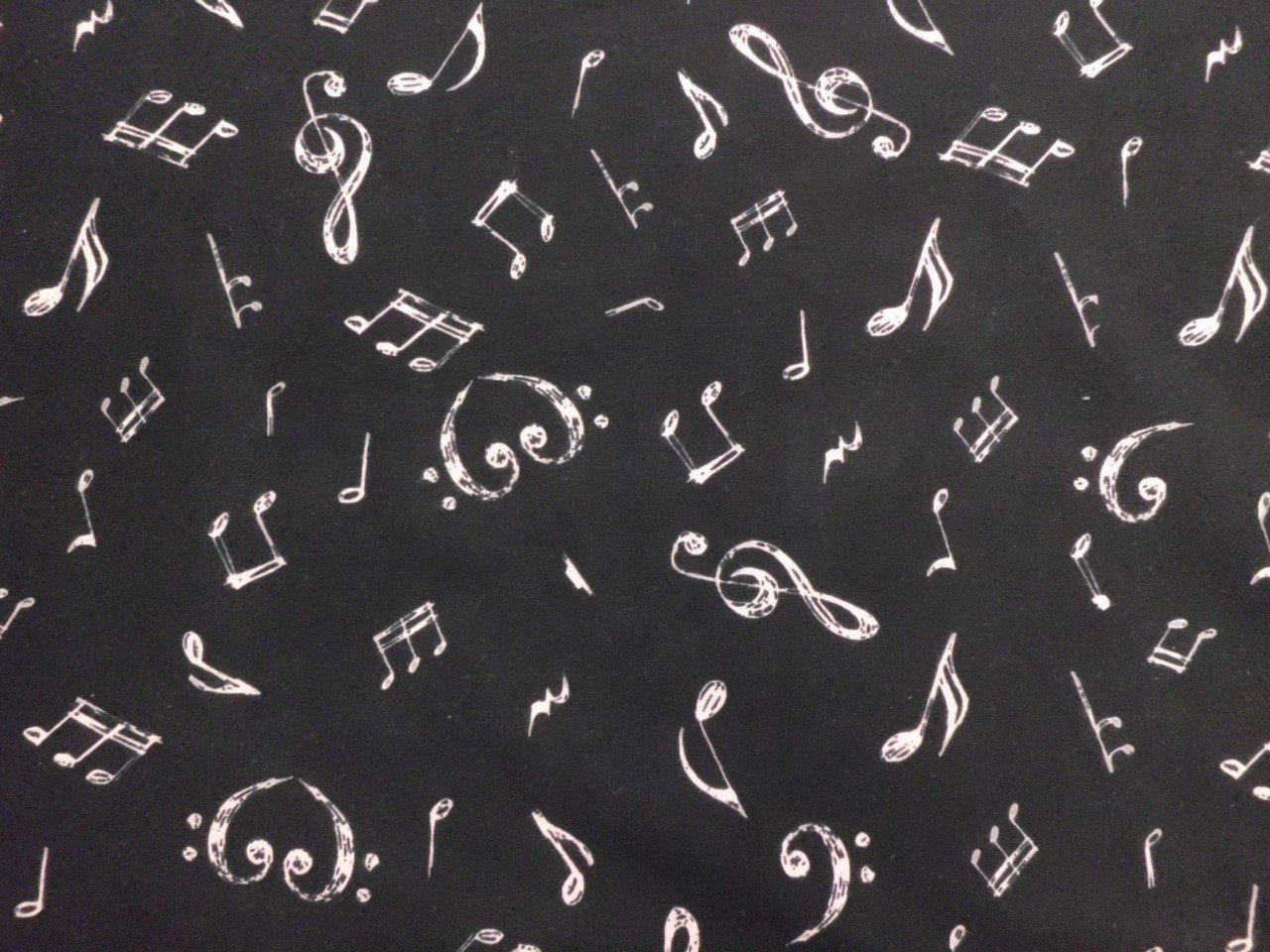 Cotton/Lycra Knit Music Print