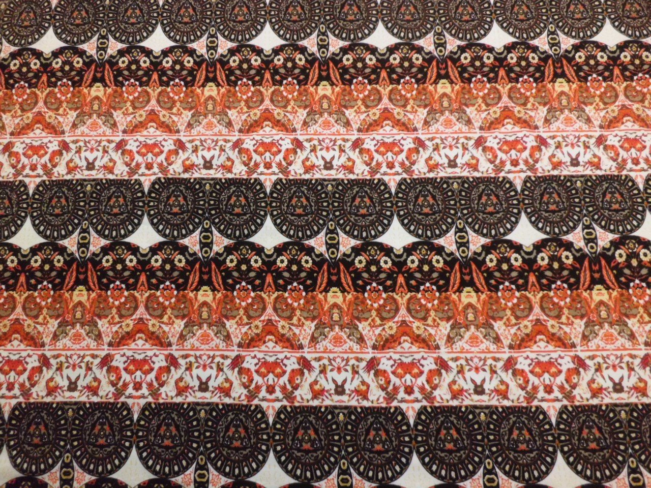 Cotton & Lycra Jersey Knit in Tribal Stripe