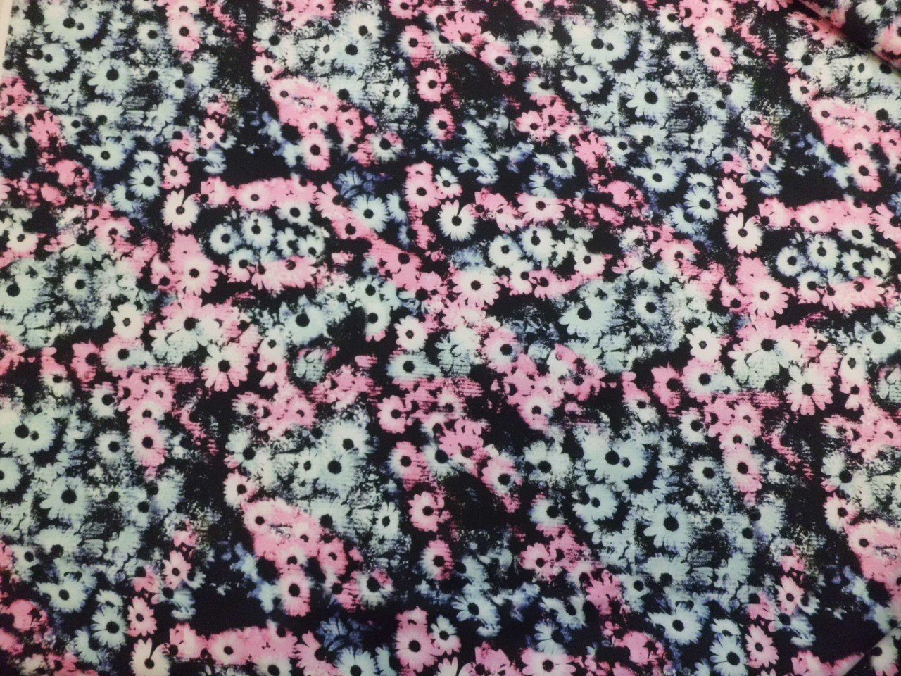 Italian Cotton and Lycra Twill Floral Print