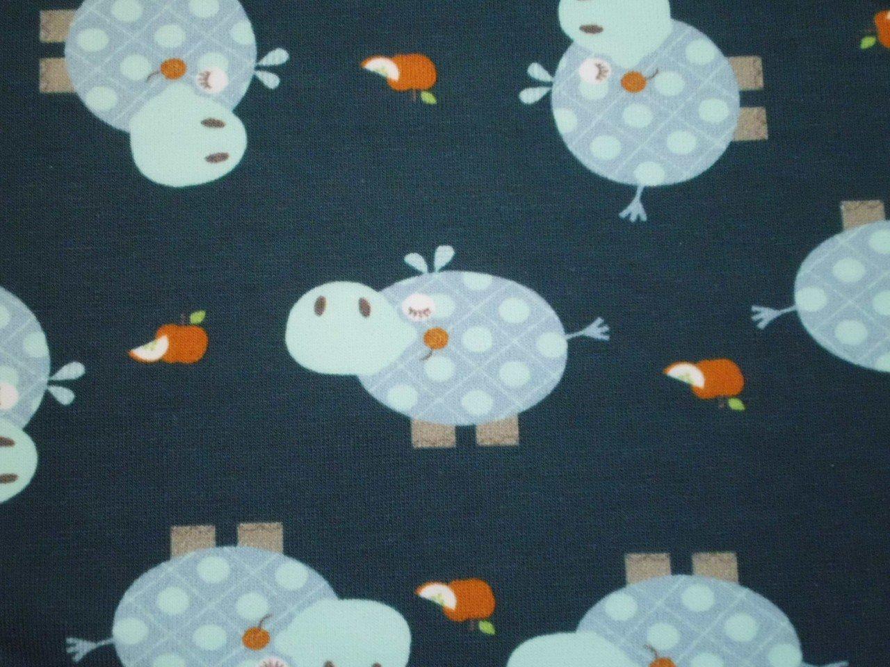 Stof Cotton & Elastane  Hippo Print Knit