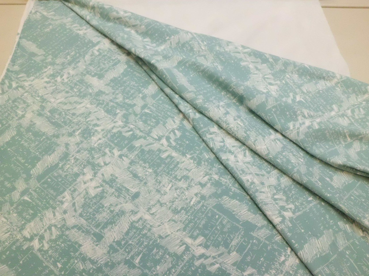 Art Gallery Cotton & Spandex Knit Print in Muted Teal