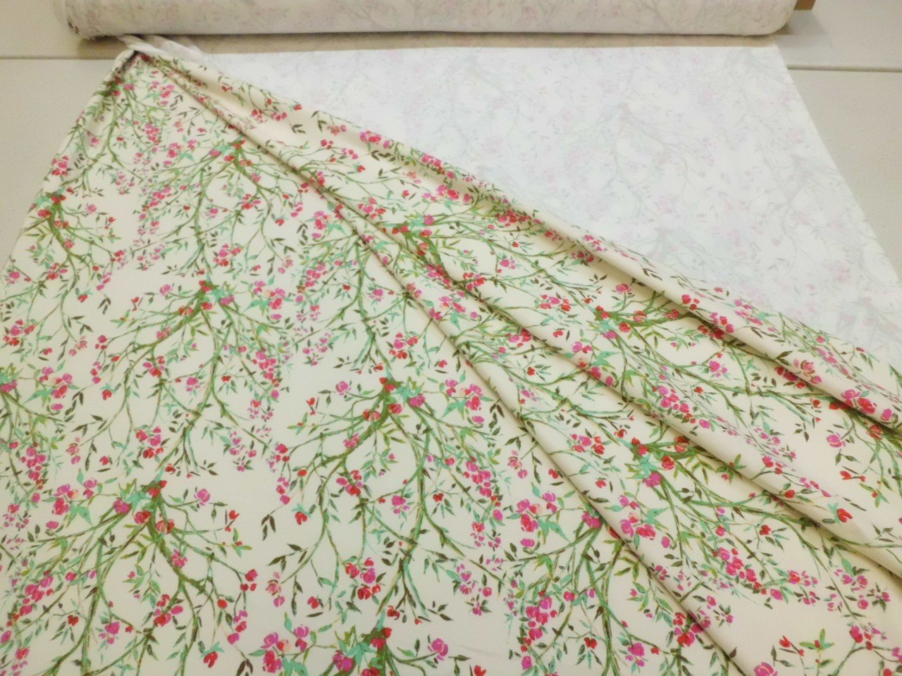 Art Gallery Cotton & Spandex Knit Floral Print in Cream