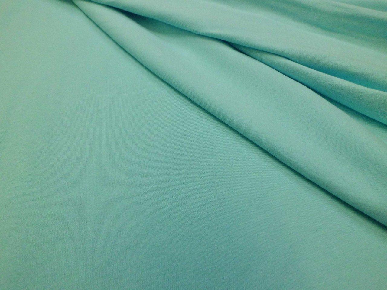 Cotton & Lycra Jersey Knit in Aqua