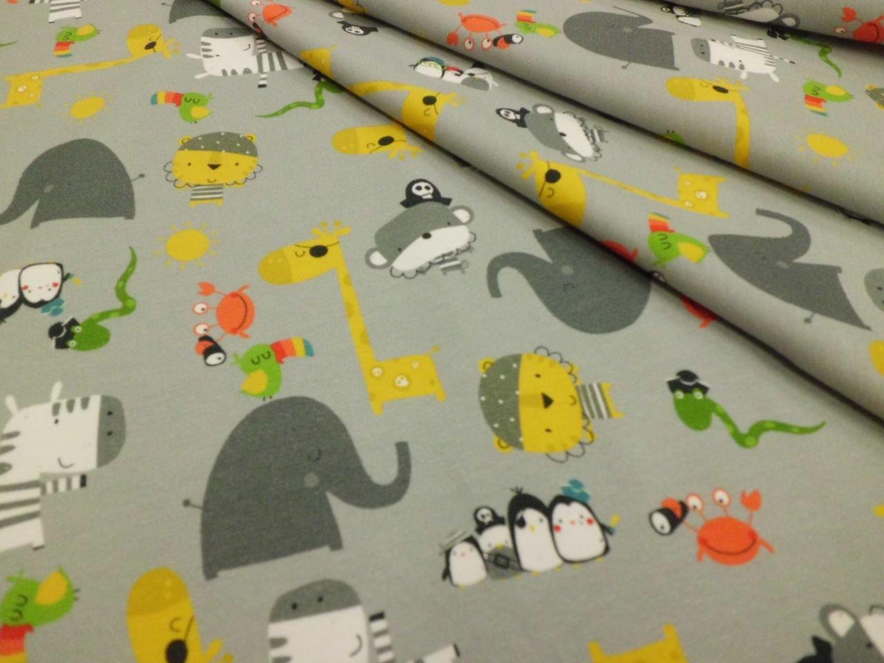 Stof Cotton & Elastane Pirate Animal Print Knit
