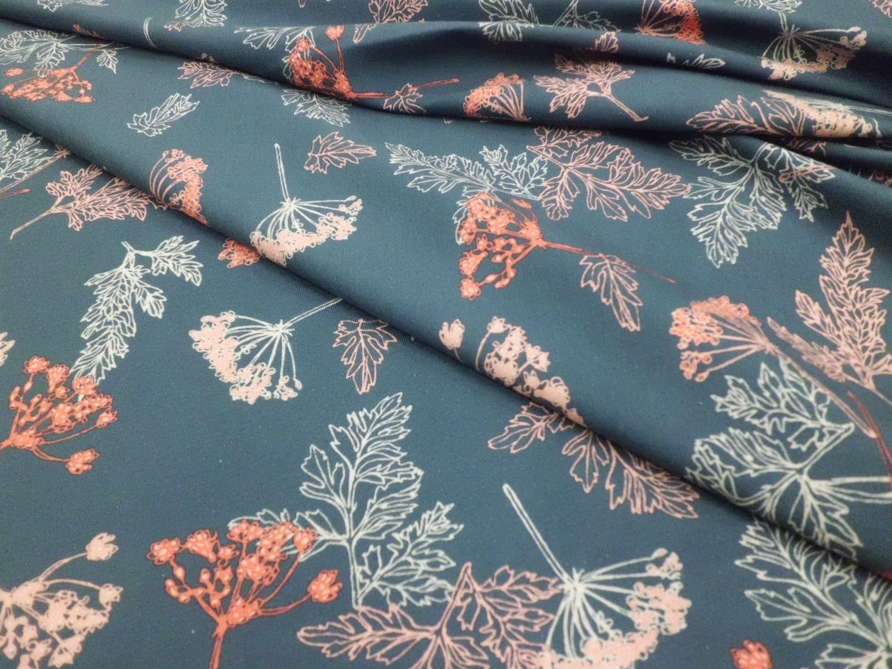 Stof Cotton & Elastane Jersey Knit Floral Print