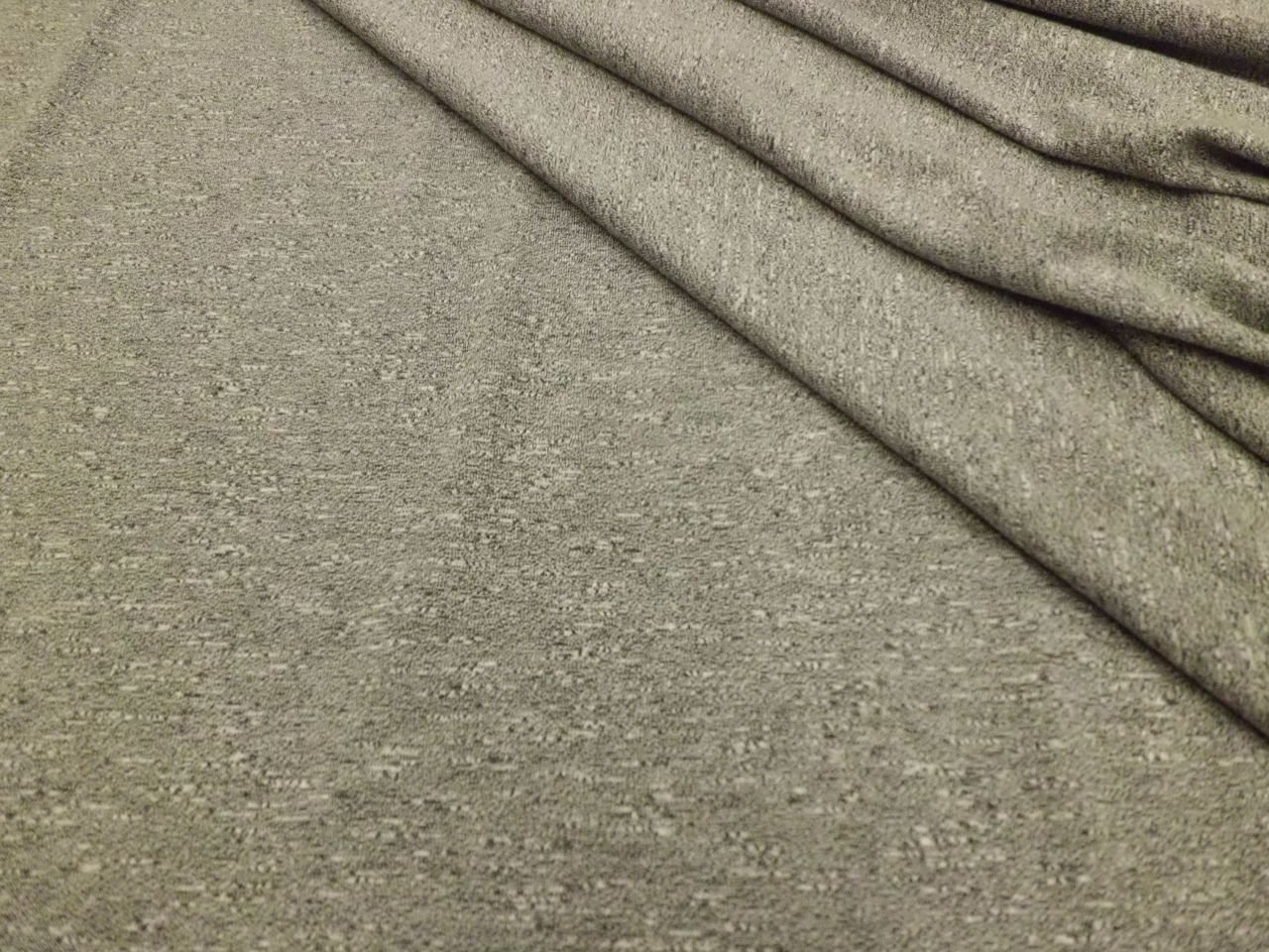 Rayon, Polyester, and Spandex Jersey Slub in Heathered Grey
