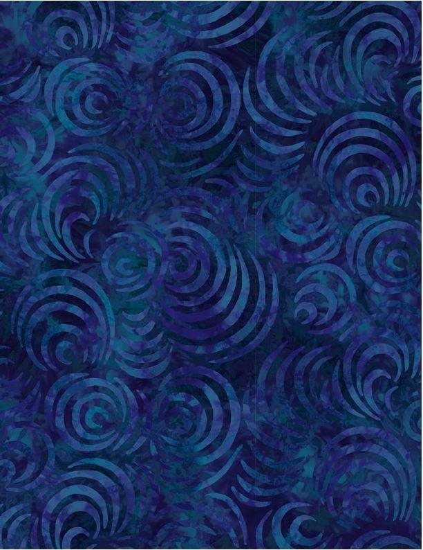 108in Wide Backing - Whirlpools Dark Blue - Wilmington Prints - 1054 2083 449 - 745181401009