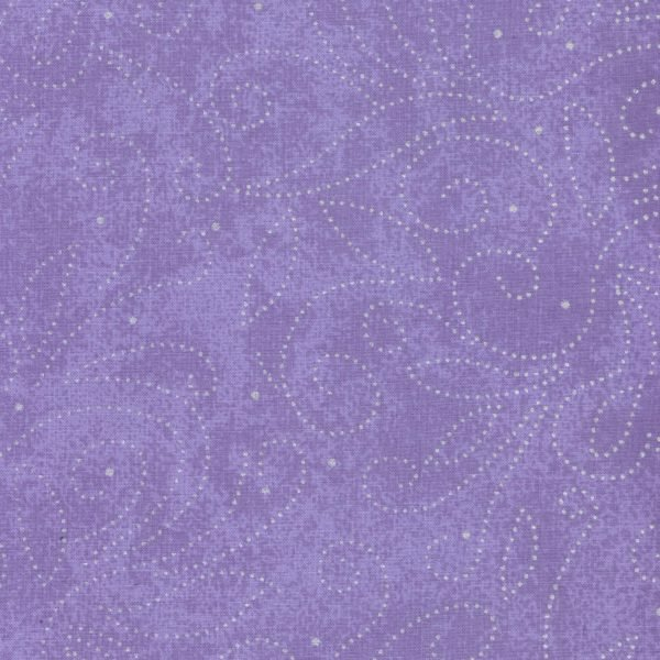 110in Wide Backing - Scrolls - Lilac-Silver  - Cotton Quilt Backings - RI-8040-1G
