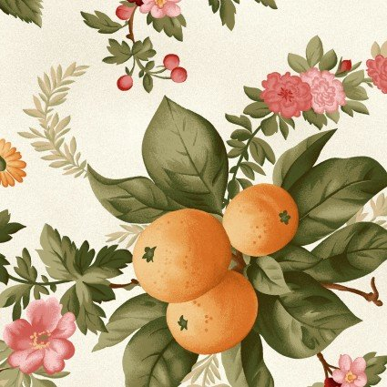 A Fruitful Life - Cream Floral Print - Maywood Studio - MAS9320-E - 714329311616