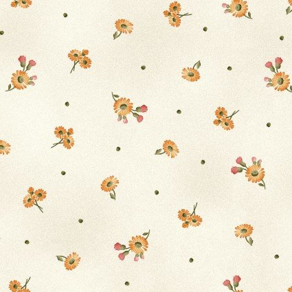 A Fruitful Life - Ecru Daisy Floral Print - Maywood Studio - MAS9328-E - 714329756813