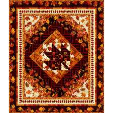 Amber Reflections Quilt Kit - Throw 46X 55