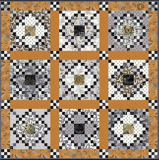 Bee Inspired Quilt - Moda - Deb Strain  Pieced by Kelee Guillory