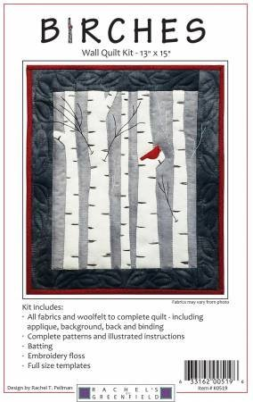Birches Wall Quilt Kit - 13 X 15 in. - Rachel's of Greenfield - K0519
