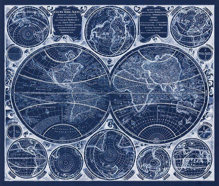 BLUEPRINT 1 yard Panel - Robert Kaufman - AWUD-18372-387 - 784626939363