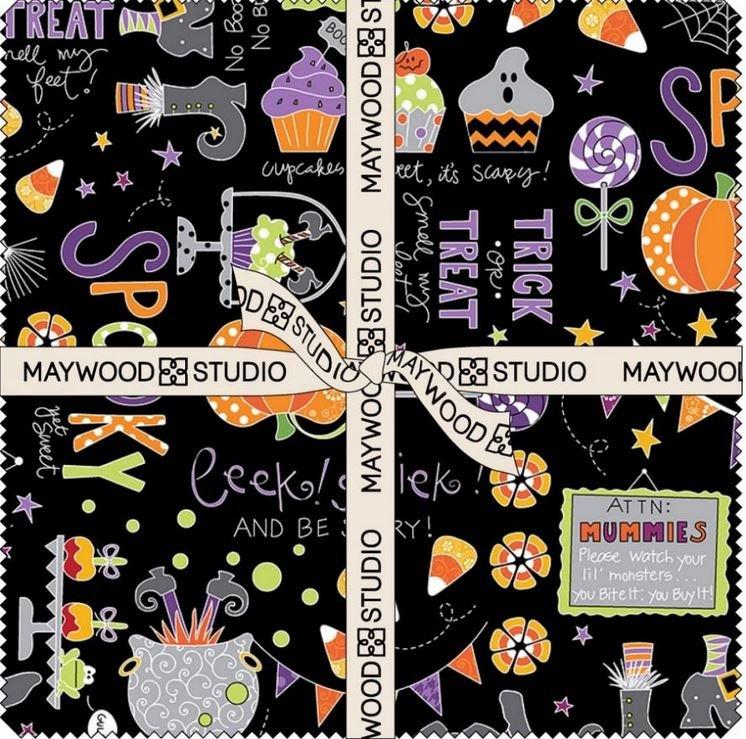 Broomhilda's Bakery - 42 10inch Squares Halloween - Kim Christopherson - Maywood Studio - SQ-MASBRB