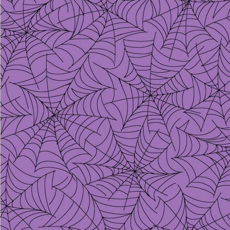 Broomhilda's Bakery - Purple Spider Web Halloween - Kim Christopherson - Maywood Studio - MAS8215-VJ - 714329423654