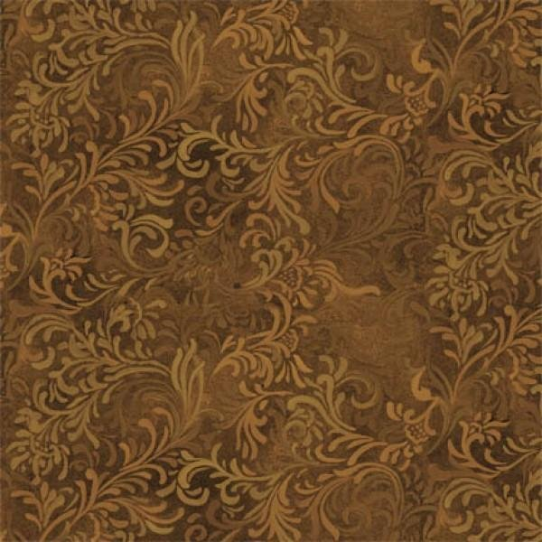 108in Wide Backing - Brown Flourish - Quilting Backing  Wilmington Prints - 6608