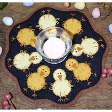 Candle Mat Chicks Kit - Bareroot - Wool Quilt Kit