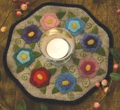 Candle Mat Flowers - Bareroots - Quilt Kits - Wool