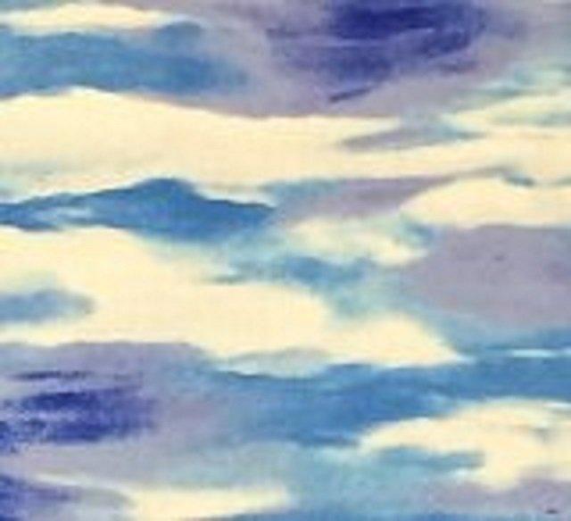 Cloudy -  Timeless Treasures - C3028 -  Blue Cloud Print