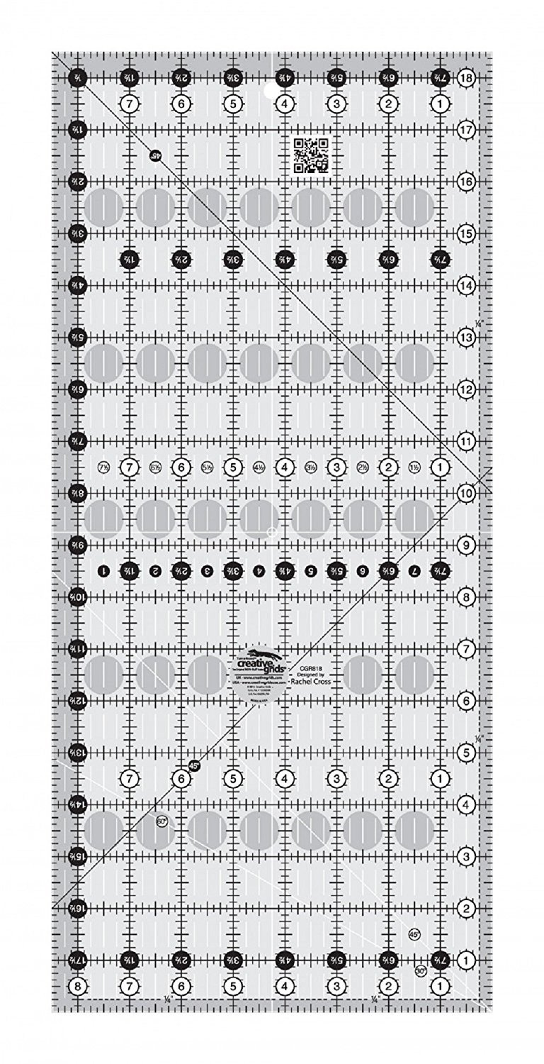 Creative Grids 8.5 x 18.5 Rectangle Quilting Ruler Template CGR818 ...
