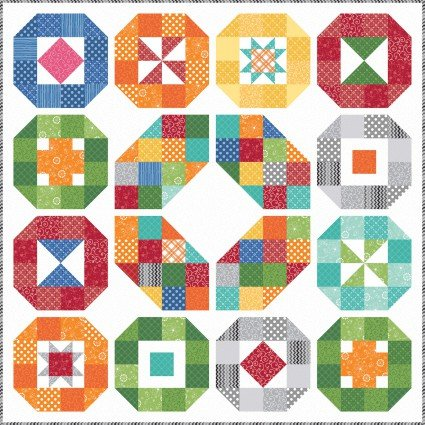 KimberBell Basics - Lacuna Sampler Quilt Kit - Maywood Studio - KIT-MASLAS - 714329650357