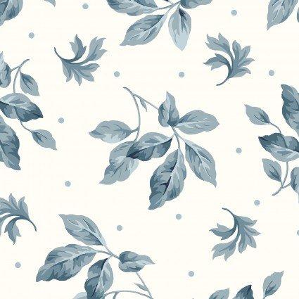 English Countryside - Ecru & Navy Floral - Maywood Studio - MAS9163-E - 714329684505