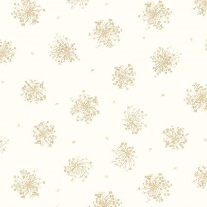 English Countryside - Ecru Queen Anne's Lace Print - Maywood Studio - MAS9167-E - 714329492353