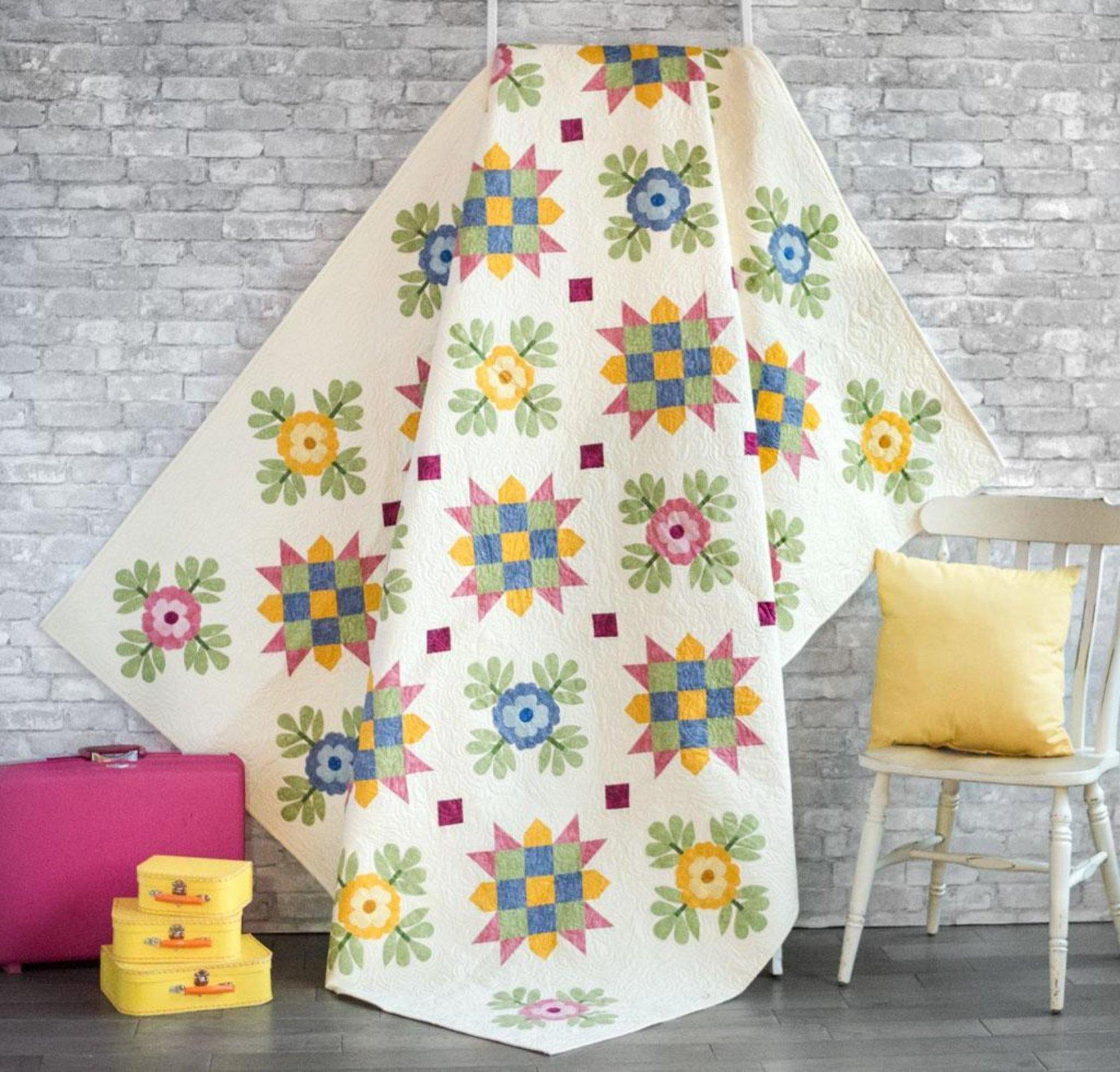 Flowers For My Sister Quilt Kit - Christine Stainbrook - RJR Jinny Beyer