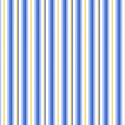 Fresh as a Daisy - Blue Crisp Little Stripe - Maywood Studio - MAS9647-BS