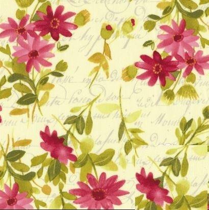 Fresh Picked - Flowers Yellow Dark Raspberry - Sue Zipkin - Clothworks - CLTY2367-75 - 073365-16750