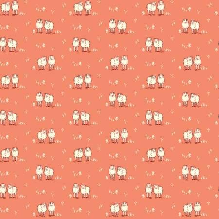 Homestead Life - Coral Hey Ewe - 51522-8 - Judy Jarvi - Windham Fabrics