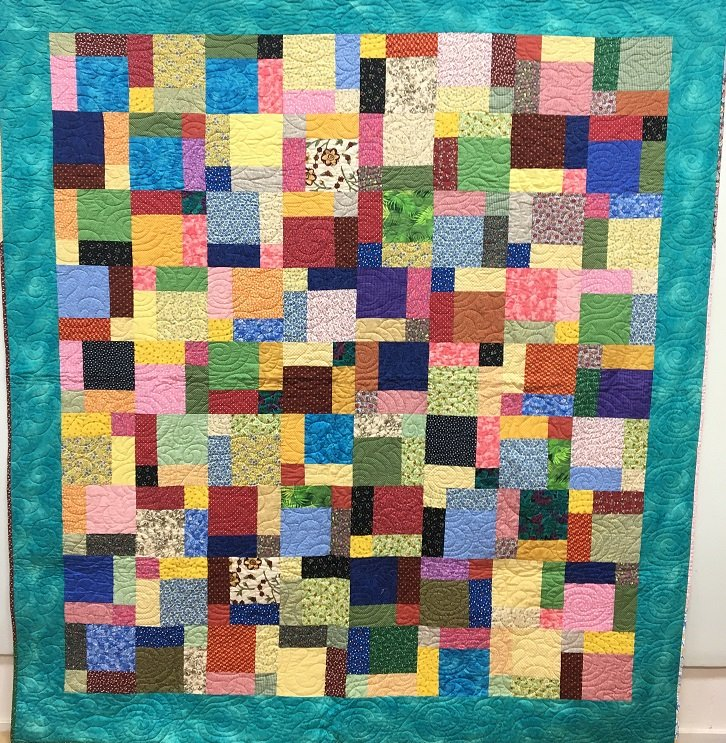 Beautiful Patch Quilt made by Dorothy Alford - 85 X 78