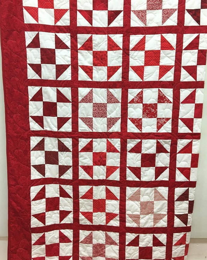 My Heart Quilt - Peiced by Dorothy Alford - 89 X 101