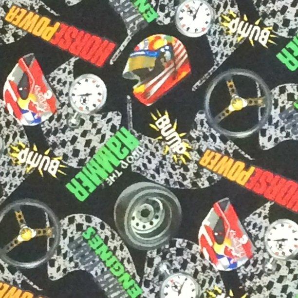 Sports Novelty - RJR Fabrics  - 7496 001 -  Black with sports print
